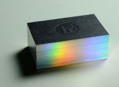 The Top 100 Best Business Cards from 2010  embossed duplex with diffraction printed edge and type