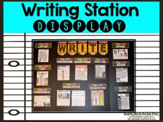 Amazing 185 page writing station! Perfect for work on writing or writer's workshop!
