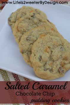 A soft, delicious and easy to make cookie that brings a little salted caramel into a chocolate chip cookie for an amazing taste combination!
