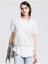 Bonded Short-Sleeve Pullover