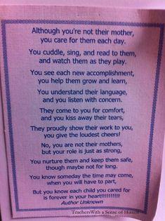 Teacher poem teacher appreciation week
