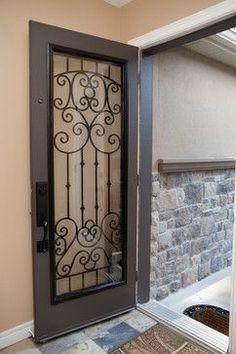 Custom Wrought Iron Front Door Home Ideas Pinterest Iron - Wrought iron front door