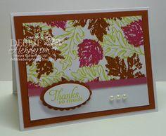 September Stamp Camp Card #2, Stampin' Up! products by Debbie Henderson, Debbie's Designs.