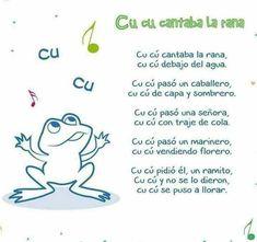 Spanish Lessons For Kids, Study Spanish, Teaching Spanish, Nursery Songs, Nursery Rhymes, Spanish Songs, Kids Songs, Stories For Kids, Homeschool