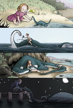 This is the weirdest love picture but if I had a pet sea monster id love it too!
