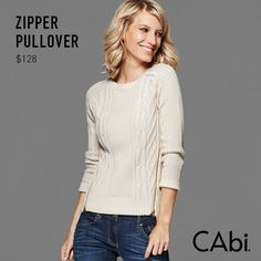 Zipper Pullover in Irish Cream
