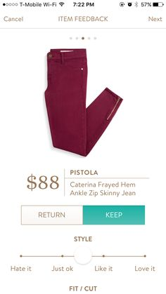 Pistola Caterina Jean, I would love some ankle zip skinnies, I can't believe I don't have a pair already!