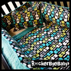 Custom 3 Piece Punk Baby Crib Bedding Set You Choose The Fabric Skull And…