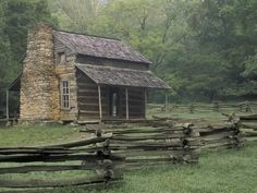 John Oliver Cabin in Cades Cove, Great Smoky Mountains National Park, Tennessee, USA Photographic Print by Adam Jones Great Smoky Mountains, John Oliver, Ideas De Cabina, Cabin In The Woods, Cabins And Cottages, Log Cabins, Rustic Cabins, Rustic Homes, Rustic Cottage