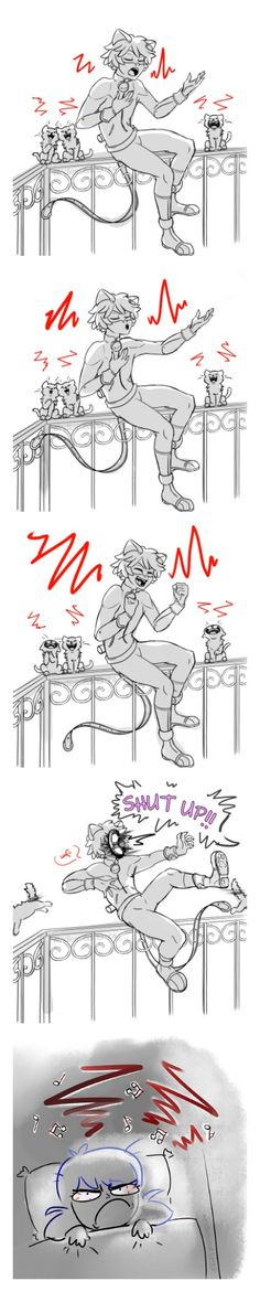 Chat singin' his heart out~ (Miraculous Ladybug)