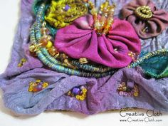 Working with textured fabric: Crinkled fabric texture - Linda Mathews