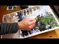 New watercolour painting download demo by Alvaro Castagnet - Rainy Day in Berlin - YouTube