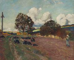 "thunderstruck9: ""Robert Delaunay (French, 1885-1941), Paysage breton, c.1906. Oil on canvas, 49 x 59.5 cm. """