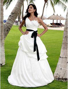 Vestido de Novia con Lazo Negro Liselotte @ Vestidos de Novia Blog