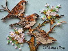 Coffee mug: Kvilings (Quilling)Beautiful Birds: