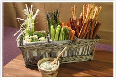 veggie tray basket