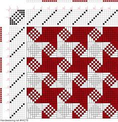 draft image: Figure A Handbook of Weaves by G. Flax Weaving, Weaving Textiles, Loom Weaving, Tapestry Weaving, Hand Weaving, Weaving Designs, Weaving Projects, Knitting Charts, Loom Knitting