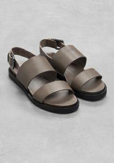 Raw Edge Leather Sandal