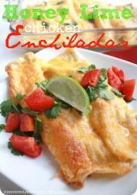 Honey Lime Chicken Enchiladas on MyRecipeMagic.com.
