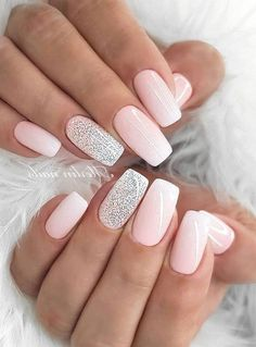 Wedding nails inspirations for the perfect wedding look. Here you will find the best nail ideas for your wedding day from simple nail designs to sophisticated nails art ideas. Each bride will find something special and unique. Natural Nail Designs, Cute Nail Designs, Acrylic Nail Designs, Art Designs, Design Ideas, Design Design, Design Page, Elegant Nail Designs, Glitter Nail Designs
