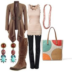 A fashion look from February 2013 featuring Lipsy cardigans, Rosemunde tops and J Brand jeans. Browse and shop related looks.