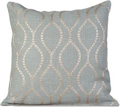 Esme Embroidered Burlap Pillow   Embroidered Pillows   Burlap Pillows |  HomeDecorators.com