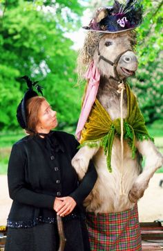 "Nanny McPhee (2005) with Emma Thompson~~ Mr. Brown... ""Nanny McPhee! Now she can't take the donkey, so what have you done?"""