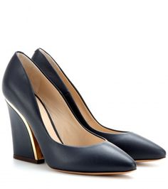 Chloé Beckie Leather Pumps