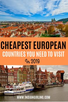 Wondering what are the cheapest european countries to visit? Find out the top 10 cheapest countries in europe and a suggested daily budget for each of them! Backpacking Europe, Europe Travel Tips, European Travel, Travel Guides, Travel Destinations, Budget Travel, Travel Maps, Cheap Places To Travel, Cheap Travel