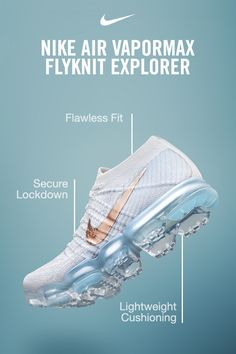 Air to move you forward. With a revolutionary cushioning system, the Nike Air VaporMax Flyknit delivers a lightweight, bouncy ride for a gravity-defying sensation—along with Flyknit fabric for a snug, flawless fit. Get yours at Nike.com.