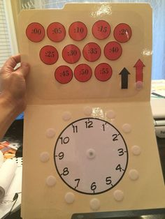 Clock file folder task Free Clock Task from Inspired by Evan Autism Resources. Visit my store, becom Special Education Classroom, Math Classroom, Kindergarten Math, Classroom Activities, Preschool, Classroom Clock, Autism Education, Math Math, Special Education Activities