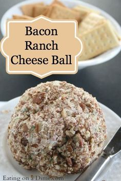 Bacon Ranch Cheese Ball Recipe is a crowd pleaser. It is the perfect appetizer for any holiday!