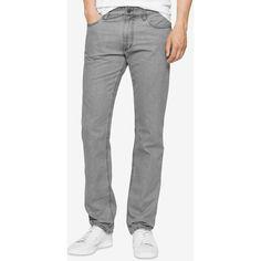 Calvin Klein Jeans Men's Slim-Fit Nailhead Pants (440 NOK) ❤ liked on Polyvore featuring men's fashion, men's clothing, men's pants, men's casual pants, granite gray, mens grey dress pants, mens gray pants, mens slim pants and mens slim fit pants