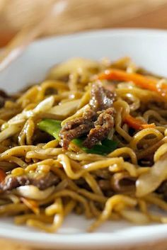 Easy Asian Beef & Noodles