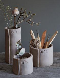DIY déco : des vases en argile - faire sa déco soi-même - Marie Claire Idées