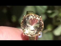 Yellow Scapolite 5.89ct 18ct Gold Ring