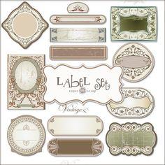 SUPER FREEBIES Blog: Freebies Labels Kit in Old Style