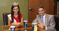 Miss Illinois visited the Restoration Cafe on Friday.