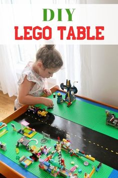 Do you have an old train table sitting in your house? We did and gave it new life as a Lego table that is played with everyday. Diy For Kids, Cool Kids, Transformers, Lego Storage, Lego Table With Storage, Train Table, Playroom Decor, Legos, Lego Lego