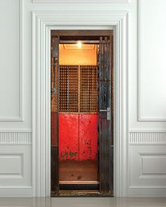 Door STICKER elevator lift gate grate mural / from Pulaton by DaWanda.com