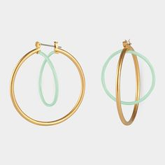 Interlocking Circle Earrings | Cyclical Industry Moma Store, Circle Earrings, Geometric Shapes, Compliments, Personal Style, Delicate, My Style, Handmade, Jewelry