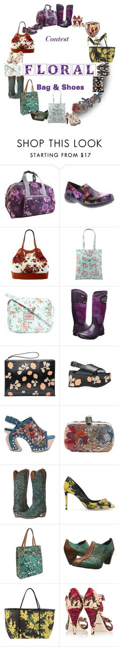 """""""- 8 - Floral- Bag & Shoes"""" by vesper1977 ❤ liked on Polyvore featuring JWorld New York, Spring Step, Isaac Mizrahi, Cath Kidston, Bogs, Marni, Alexander McQueen, Old Gringo and Dolce&Gabbana"""
