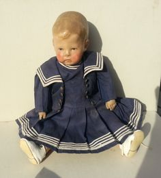 Original Kathe Kruse Doll 1 Wide Hips with Blue Eyes CA 1910 | eBay