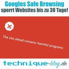 Safe Browsing sperrt Websites