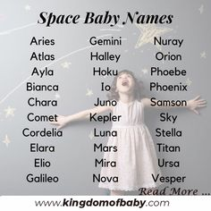 Space baby names Heavenly baby names, in . - Space baby names Celestial baby names inspired by the stars # - Unisex Baby Names, Cute Baby Names, Pretty Names, Baby Girl Names, Names For Babies, Unisex Names List, Baby Boy Or Girl, Celestial Baby Names, Biblical Baby Names Boy