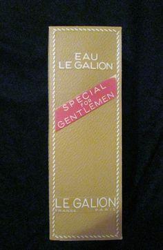 Vintage Eau Le Galion Special For Gentlemen Bottle Box 7.75 Ounce #EauLeGalion