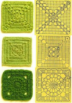 Transcendent Crochet a Solid Granny Square Ideas. Inconceivable Crochet a Solid Granny Square Ideas. Beau Crochet, Crochet Diy, Crochet Motifs, Granny Square Crochet Pattern, Crochet Diagram, Crochet Squares, Crochet Chart, Granny Squares, Patron Crochet