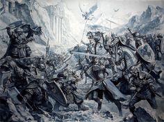 Dwarves vs Bretonnians - Karl Kopinski
