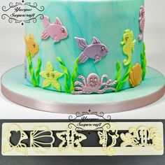Yueyue Sugarcraft Oceaan plastic fondant cutter cakevorm fondant mold fondant cake decorating gereedschap sugarcraft