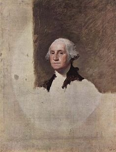 """Gilbert Stuart - (1755 - 1828) - An American Painter from Rhode Island  - Widely considered to be one of America's foremost portraitists. His best known work, """"George Washington Unfinished: 1796"""" - the unfinished portrait of George Washington that is sometimes referred to as The Athenaeum, was begun in 1796 and left incomplete at the time of Stuart's death in 1828. The image of George Washington featured in the painting has appeared on the United States one-dollar bill for over one century."""